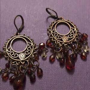 🌞 Boho bronze beaded sun earrings 🌞